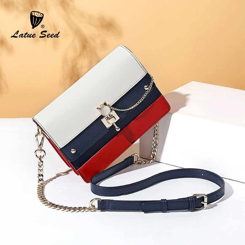 Bag ladies 2018 new autumn leather tide wild Korean fashion single shoulder Messenger bag girl small bag chain