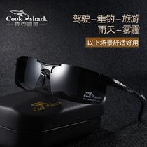 Кук акула открытый поляризованные солнцезащитные очки день и ночь водитель зеркало профессиональный вид дрифтер рыбы рыболовные очки увеличенные очки