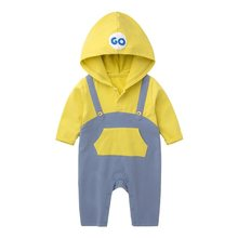 Twin baby clothes cartoon overalls har-yi baby out clothing