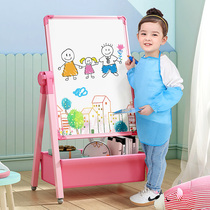 Small blackboard Home teaching childrens childrens drawing board Magnetic bracket doodle board Dust-free easel Rubable baby whiteboard