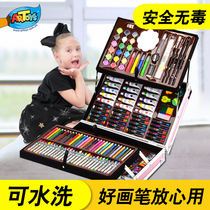 Children's Painting Brush Gift Box Painting Tools Primary School Pupils Watercolor Brush Painting Set Art Learning Goods Kindergarten Girls