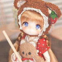 (Spot)TinyFox Akaneko bear official genuine bjd doll MJD 6 points bjd girl 2 dimensional doll