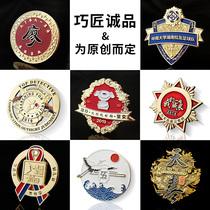 High-grade metal badge custom brooch custom gold and silver memorial medal Party badge badge school badge corporate LOGO design