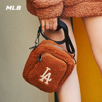 MLB official mens and womens bag NYLA oblique across lamb velvet LOGO embroidery small bag sports leisure trend BGDF