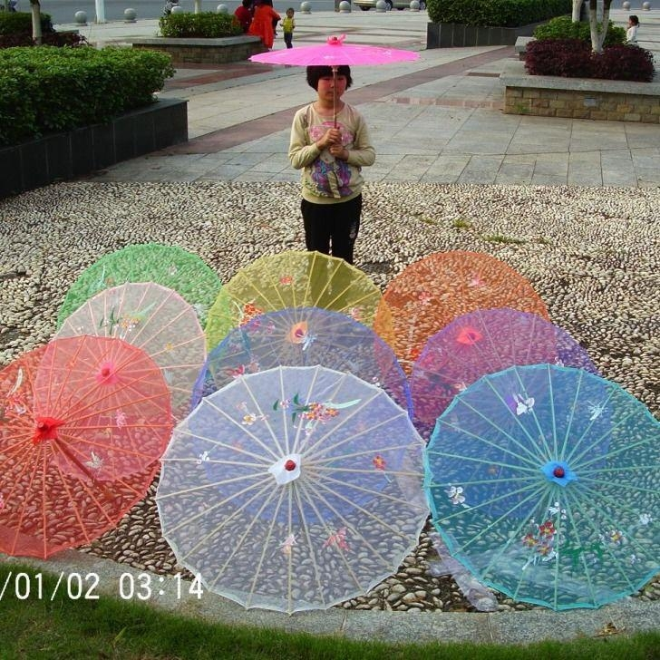 Umbrella Plaza Dance Projects for Stage Performance Umbrella Walking Model Photography Craft Silk Watch Transparent Juanjuan Umbrella