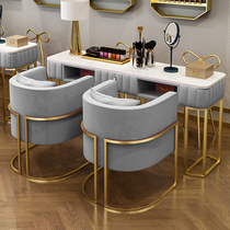 High-end nail art table and chair set combination Modern net red single double manicure table Marble special economic beauty shop