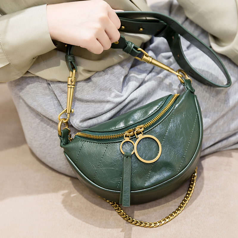 Small CK waistband lady 2019 new Chaos ins saddle bag folded breast lady straddle single shoulder straddle chain bag