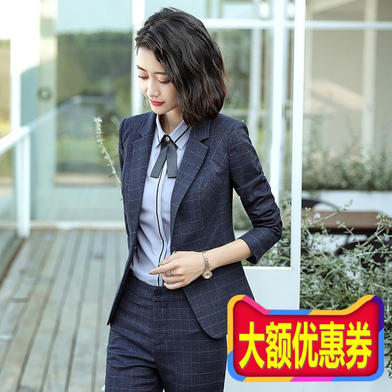 2020 new professional suit goddess Fan temperament high-end work small suit fashion jacket jacket Korean version of autumn and winter