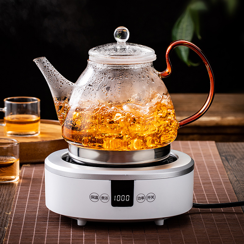 Steaming teapot induction cooker special kettle resistant to high temperature glass thickened tea steam home electric ceramic stove tea maker
