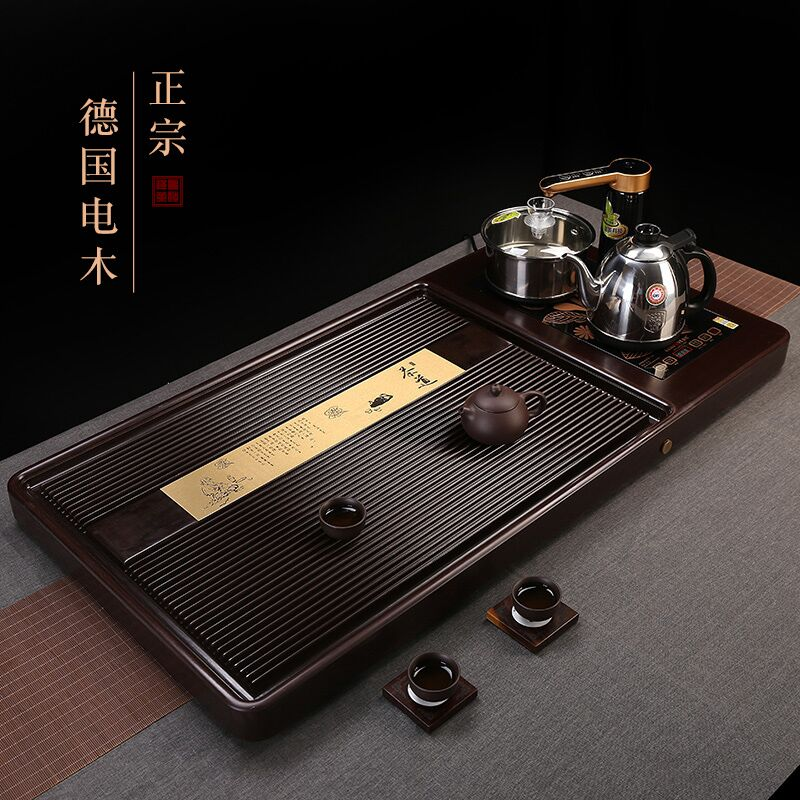 Electric wood tea plate Germany with fully automatic induction cooker kettle one kung fu tea set set tea sea tea home
