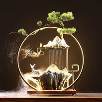 Creative flowing water ornaments light ring fountain landscape feng shui money living room office desktop decorations open gift-giving.