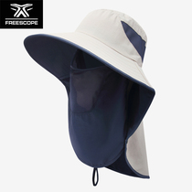 Outdoor quick-drying fishermans hat Neck and face breathable sun protection hat Men and women summer travel sun hat Fishing hat