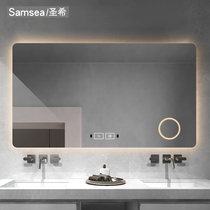 Sanshi dressing room frameless smart touch screen with lamp bathroom mirror wall hanging toilet bathroom bathroom bathroom mirror
