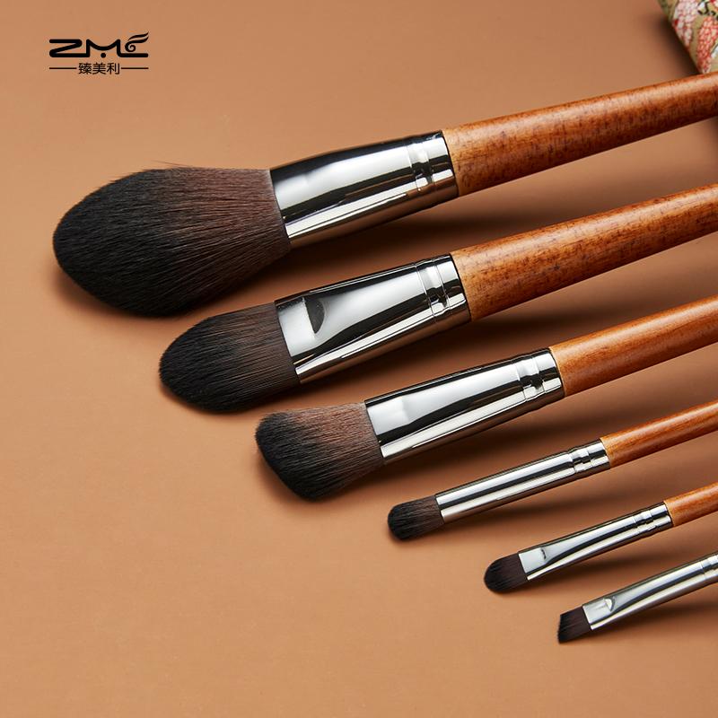 Meimei original wood handle beginner makeup brush set new beauty tool eye shadow scattered blush brush soft