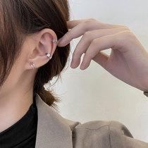 French earbone clip without earhole advanced sense sterling silver earrings earrings integrated cool quality minority earrings