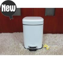 Export inventory 6l12l square stainless steel pedal trash can i white steel color slowly quiet