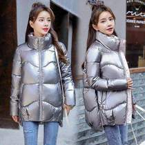 。 Anti-season down jacket womens short light-faced loose-fitting fashion white duck down wash-free 2020 new Korean version of the winter girl