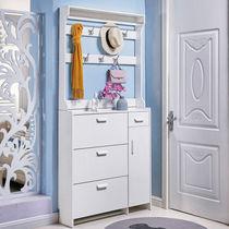 Ultra-thin flip shoe cabinet with hanger simple modern door simple foyer cabinet economy home Xuanguan narrow shoe rack