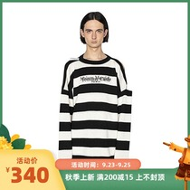 ZUI High version) MM6 Majila co-name black and white striped sweater TOMMY CASH early autumn new sweater