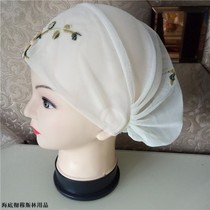 Islamic handmade small hat Muslim women embroidered hat Hui headscarf cover head spring and summer thin small hat
