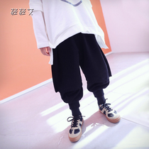 Homemade boy casual pants 2020 spring new childrens Harlan collapse pants in the child Korean version of big ass pants tide