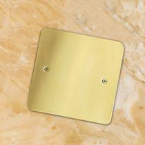 Full copper lid blind plate cover cover cover regular bottom box cover box cover box sealed empty cover plate