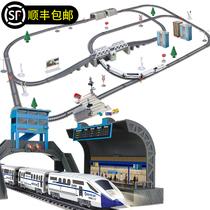 中国火车玩具高铁模型仿真动车组带轨道儿童小火车好玩的男孩电动