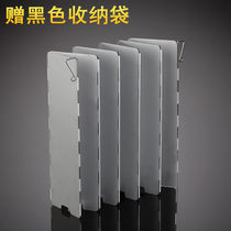 Outdoor camping card stove aluminum windscreen 10 pieces barbecue stove wind shield gas stove head wind shield