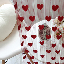 Line curtain without punching crystal partition hanging net red curtain decoration living room bead curtain curtain flow Su screen bedroom curtain