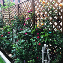 Wooden screens cut off the Xuanguan wood fence wooden grid flower rack carbid wood fence garden fence climbing rattan frame guardrail