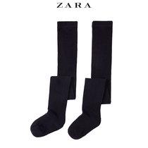 ZARA childrens clothing two double plain pantyhose socks autumn Winter 01554744401