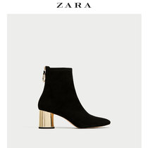 ZARA women shoe plated metal layer with short boots 16070201040