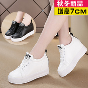 Magic water increased 2017 new autumn shoes shoes white sports shoes all-match platform shoes.