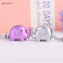 Milers stereo objects couple keychain key ring creative chain car pendant cartoon cute doll