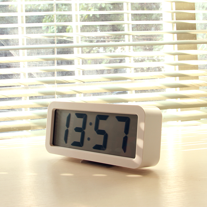 LCD Electronic Alarm Clock Creative Student Music Clock Living Room Silent Clock Bedroom Simple Fashion Bedside Clock