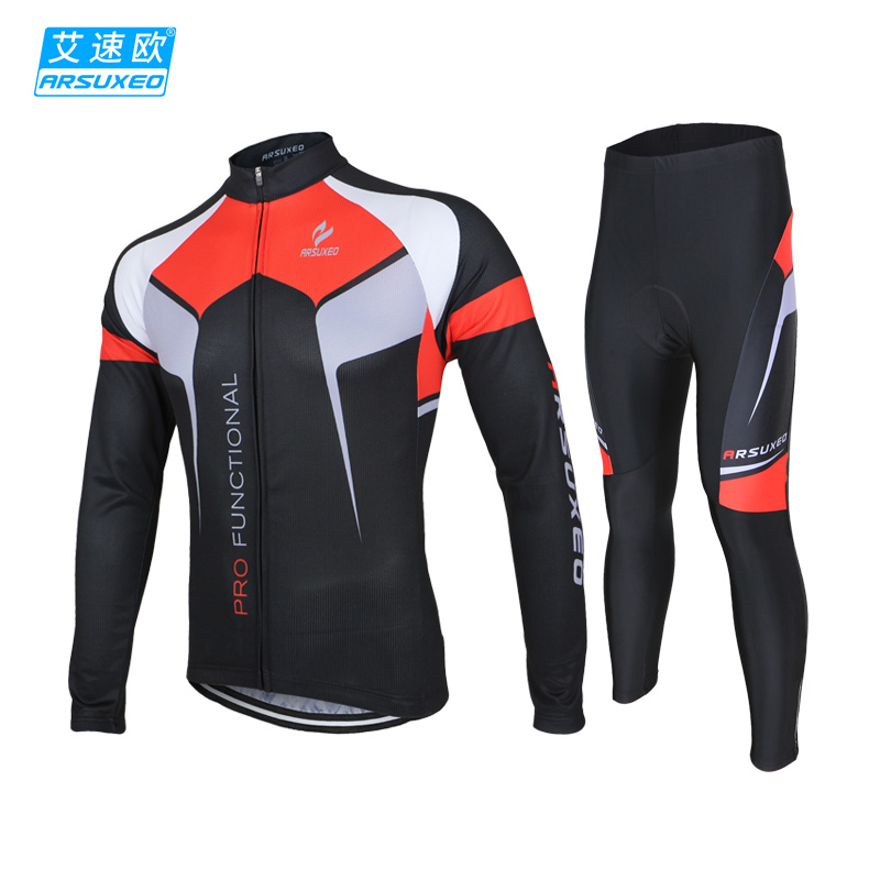 Azuo cycling suit spring and autumn men's summer long-sleeved mountain bike jacket bicycle riding pants equipment