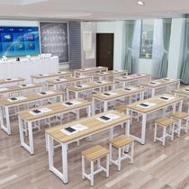 Учебные столы производители прямые длинные столы одиночные и двойные парные столы стулья для школьников втиснуть коучинг учебный стол