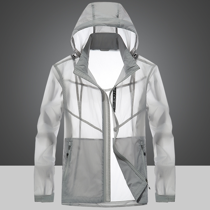 ZHAN DI JI PU outdoor sports sun protection clothing windbreaker spring and summer ultra-thin breathable skin clothing male trend