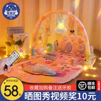 婴儿玩具脚踏钢琴健身架新生脚蹬床宝宝幼儿两三个月儿童哄娃神器