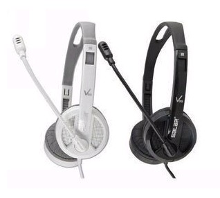 Salar/Sound V38V Computer Headset with Microphone Single Hole Laptop Stereo Headset