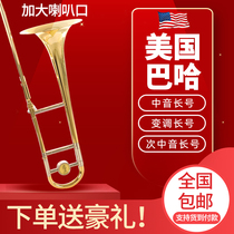 American Baha long pull pipe instrument lower BF tone in the tone of the tone of the brass instrument initial learning to play the test