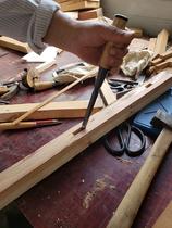 Traditional steel carpentry chisel flat chisel wood chisel flat chisel grooving chisel mortise dovetail chisel knife zhuozi manual forging