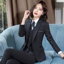 Suit set female 2021 New temperament slim work clothes college students interview formal suit suit business wear autumn and winter