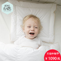 FOSSFLAKES imports of German organic cotton baby pillows baby infant two piece set