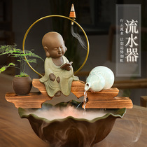 Auspicious back flow of fragrant Zen water ornaments Lucky Town House home Tea Table Tea Table on the end of the ornaments