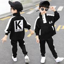 Детская одежда для мальчиков весенний и осенний костюм 2020 новая корейская версия детского спорта из двух частей случайной приливной одежды для мальчиков