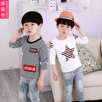 3-7 boy child baby cotton bottoming shirt