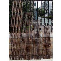 户外小栅栏围栏月季植物爬藤竹子花支架花园竹竿阳臺伸缩竹条篱笆