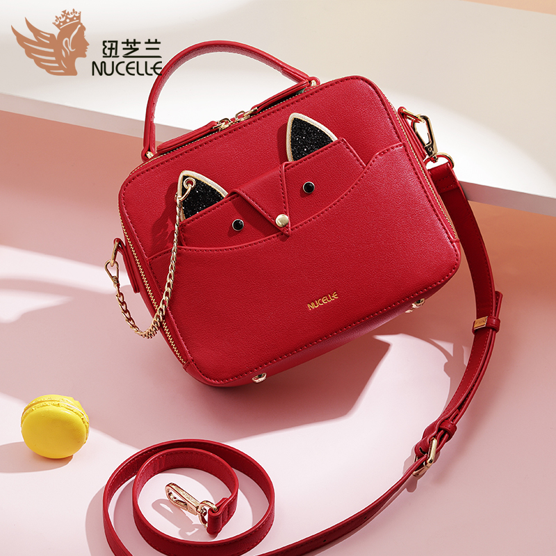 New Zealand red bag female 2018 new wave Korean version of the portable wild Messenger slung shoulder small fairy ins super fire