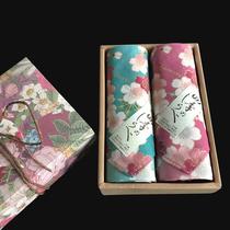 Японская марка Kyoto печать хлопок носовой платок подарочная коробка сакура хлопок носовой платок хлопок квадратное полотенце дамы подарок новый